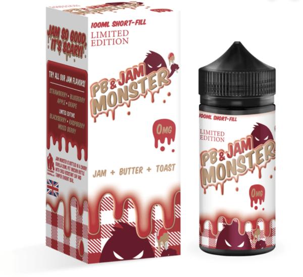 Peanut Butter & Strawberry by Jam Monster 100ml