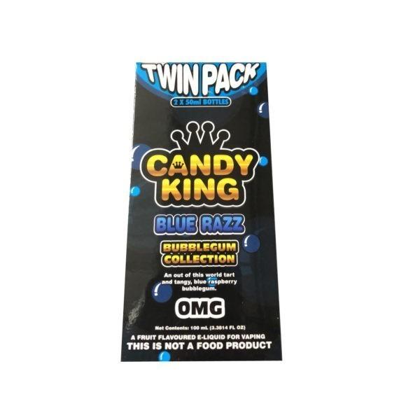 Blue Razz by Candy King Bubblegum Collection 100ml (2x50ml)