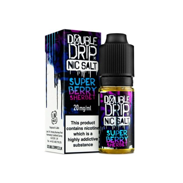 Double Drip Super Berry Sherbet Nic Salt 10ml