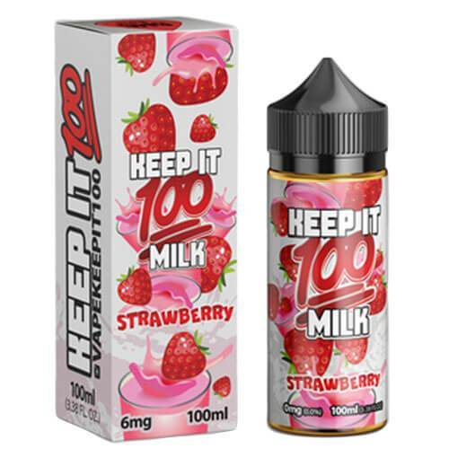 Milk Strawberry by Keep It 100 100ml