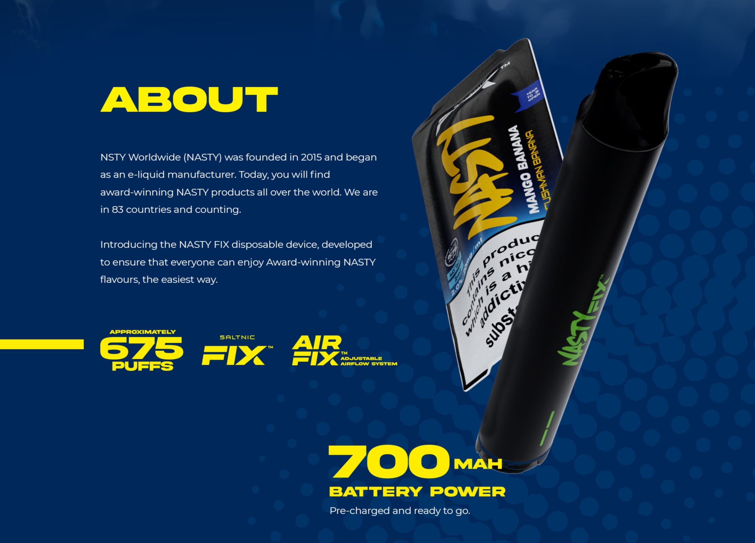 Nasty Fix Disposable Pod Kit 675 Puffs 10MG